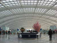 treansportation concourse at Beijing International