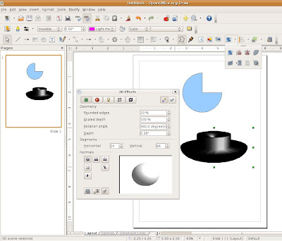 openoffice draw 3.0. Drop-Down List of 3-D Effects