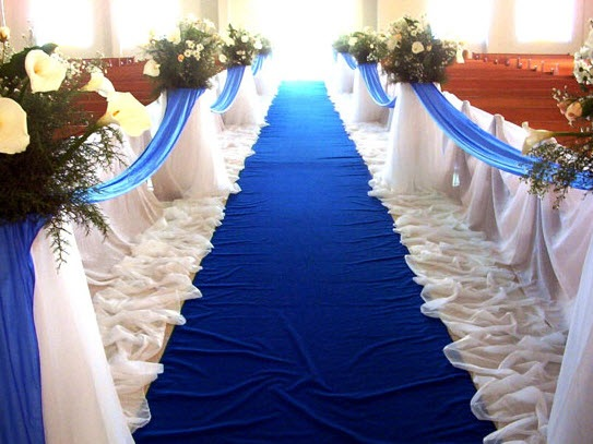 decoracin matrimonio con color azul