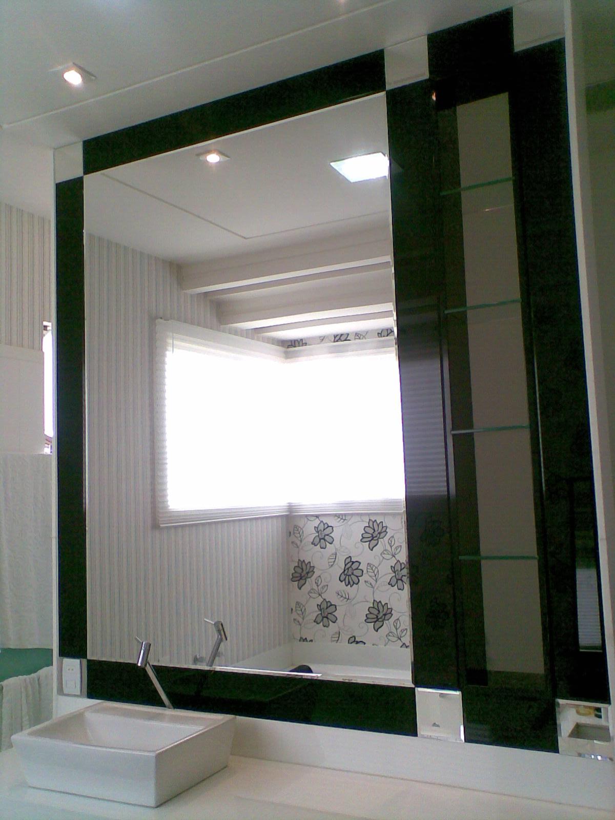 Vidraçaria Central: Banheiro Sunflower #1C2317 1200x1600 Acabamento De Banheiro Preto