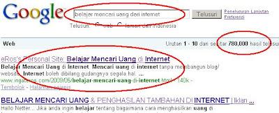 belajar mencari uang di internet