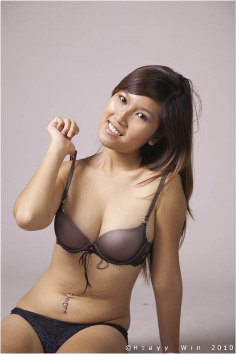 Myanmar Amateur Model Girl's Sexy Lingerie Fashion Photo