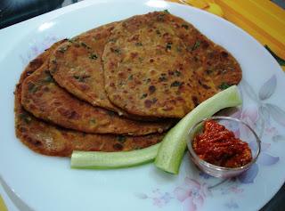Brinjal Paratha