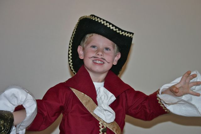 Evan wanted to be Captain Hook since about July. Which allowed me to