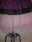 Skirt Purple TUlle lace skulls
