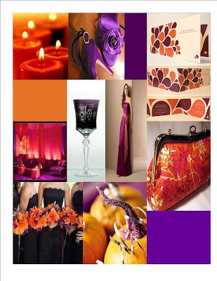 orangewith a violet fuchsia
