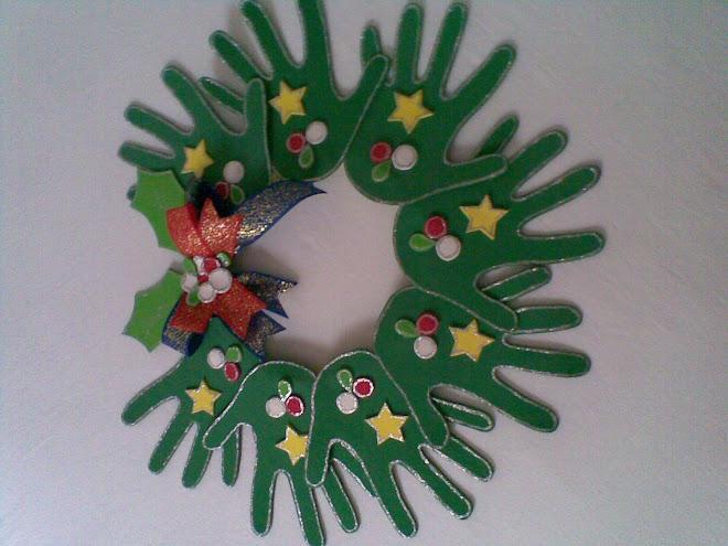 guirlanda de Natal feitas em EVA