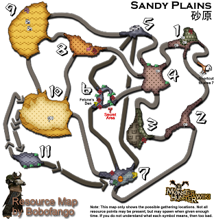 Monster hunter 3 tri mapas for Pez cuchillo cristal