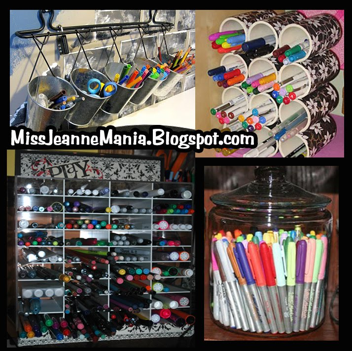 Pen   Pencil   Marker Storage Ideas   Blog Hop!