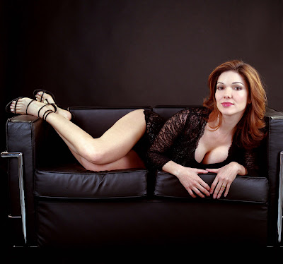 Laura Harring Black Strappy High Heel Goodness