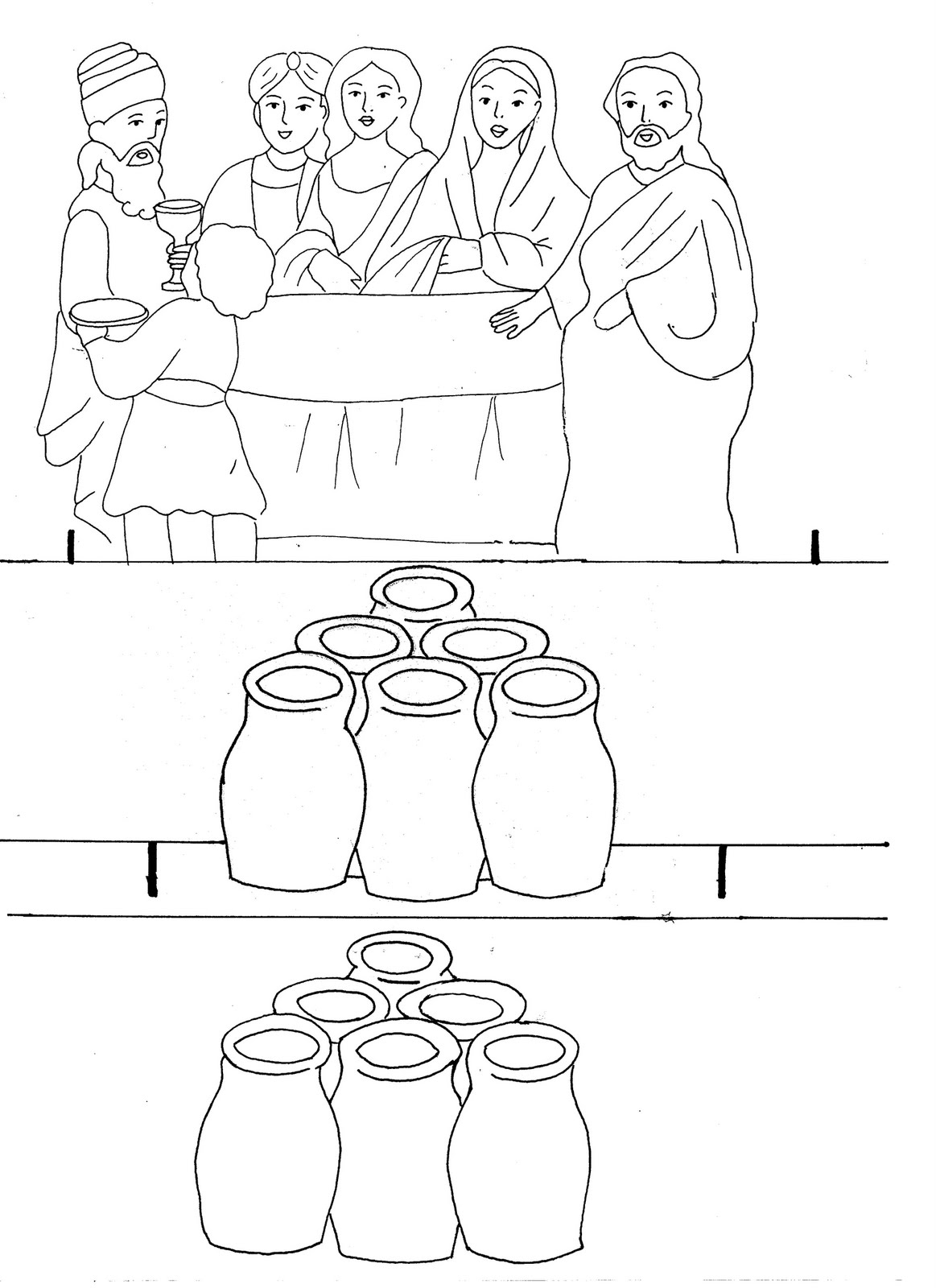 Coloring Pages Canaan Wedding