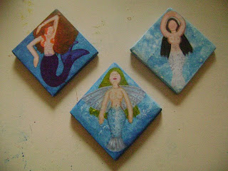 Mermaid Tiles in Progress
