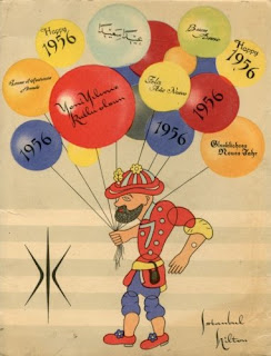flier cover of Hilton Hotels for new year of 1956