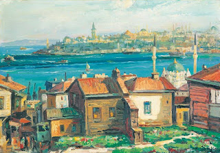 painting of Sarayburnu by Ibrahim Safi