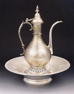 silver Aznavur Zenne pitcher and bowl