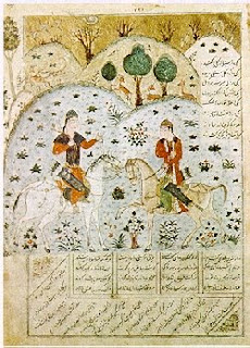 miniature of husrev and shirin