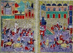 miniature showing an ottoman campaign