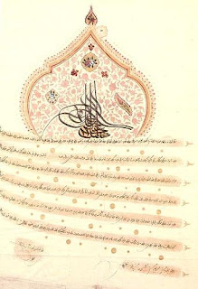 ferman of sultan Mustafa iv