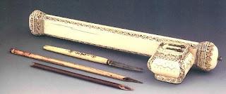 19c ottoman ink holder