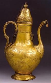 19c ottoman tombac zamzam pitcher