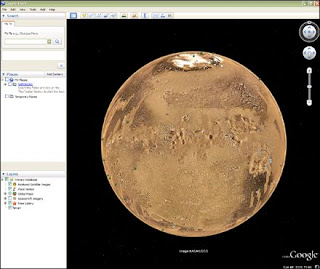 view of google mars layer