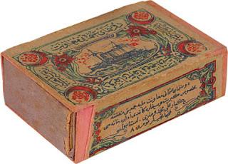 19c ottoman naval society matchbox