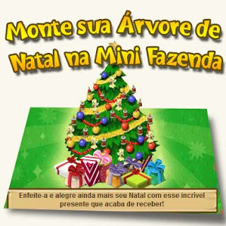 Árvore de Natal Mini Fazenda