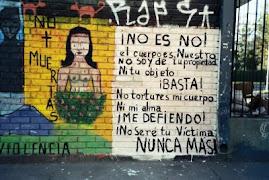 Mural feminista chileno