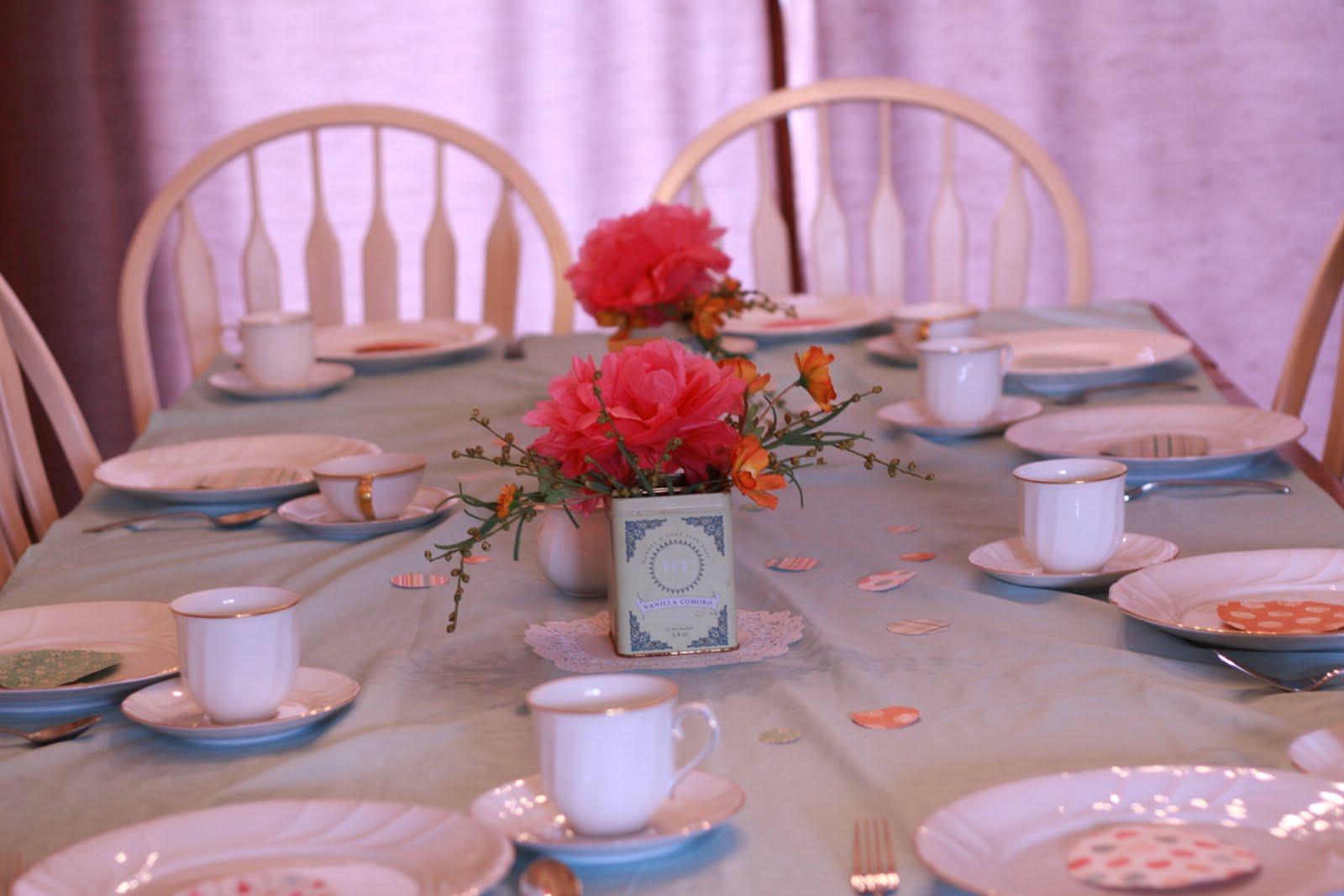 the copy cat cottage: tea party baby shower: the decor