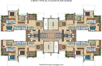 Your Life Your Space Amit S Colori 2 3 Bhk Flats At