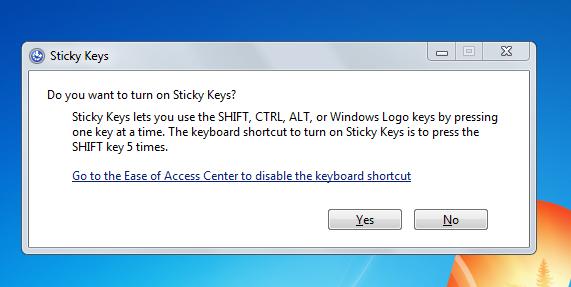 windows xp sticky keys hack