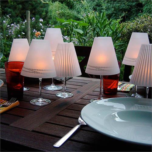 Лампа из бокала для вина