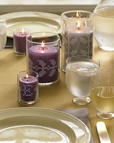 Декорированный вышивкой стакан