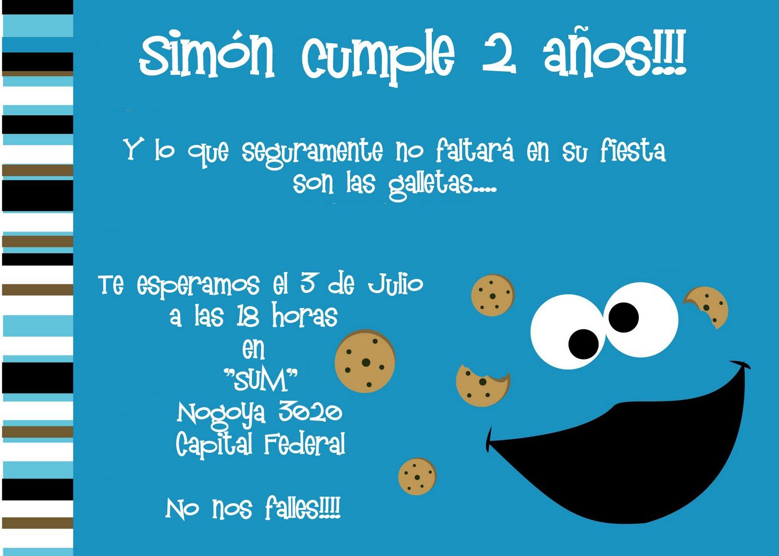Invitaciones de cookie monster imagui voltagebd Images