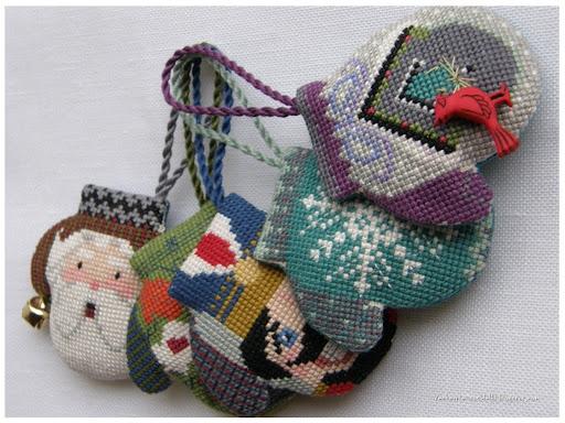 схема новогодней вышивки