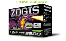 PLACA DE VIDEO ZOGIS 9800 GT 1GB HDMI ONBOARD.