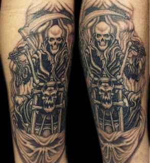 Grim Reaper Biker Motorcycle tattoo