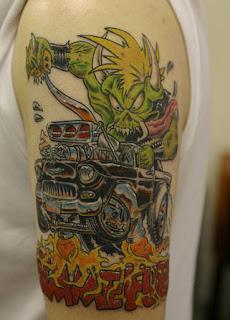Monster Hot Rod Metallica tattoo
