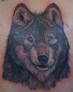 Wolf Portrait Tattoo Design