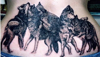 Wolf Tattoo Design on Lower back area
