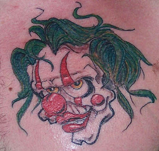 Green Haired Clown Tattoo
