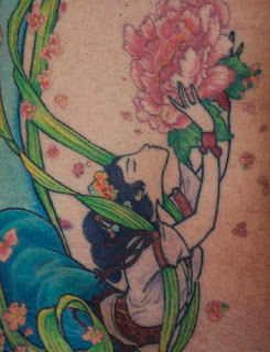 Chinese Girl Tattoo