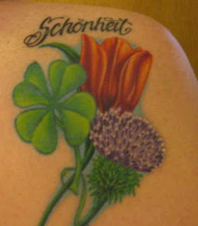 Clover Leaf Tattoo and Flower Tattoos