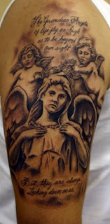 Cherub Angels Tattoo Design on Upper Arm