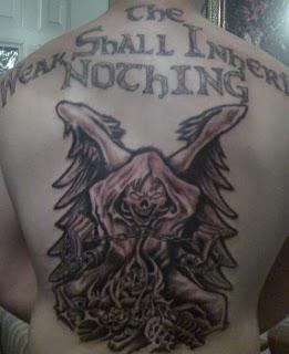 Grim Reaper Death Tattoo on back