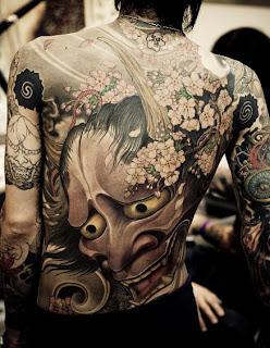 Japanese Themed Back piece Demon Tattoo