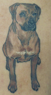 Nice Full Body Dog Portrait Tattoo