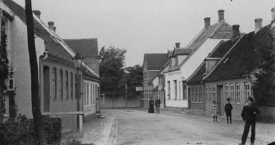 Nørregade omkring 1900-1920 - klik for større billede