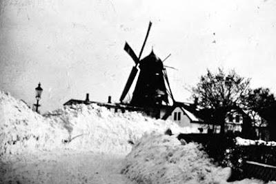 Stevnsmøllen i vinterdragt - klik for større billede
