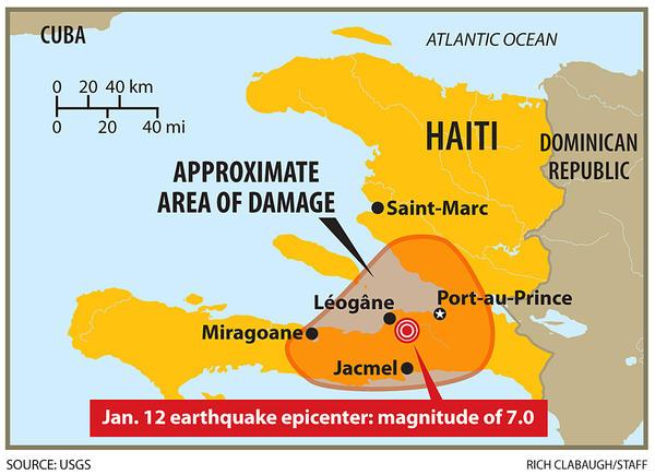 Haiti Earthquake Map Epicenter